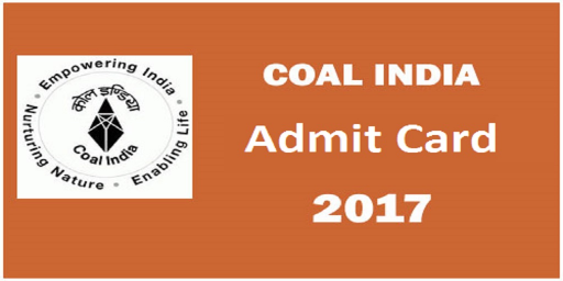 (CIL)Coal India Limited Admit Card (Management Trainees) 2017